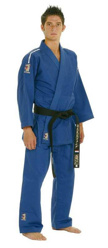 Matsuru Judopak Semi Wedstrijd wit met blauwe schouderlabel