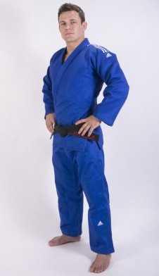 Adidas Judopak Champion II IJF blauw
