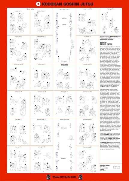 Matsuru instructieplaat Goshin Jutsu