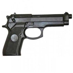 Rubber pistool realistisch zwart